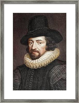 1618 Sir Francis Bacon Scientist Portrait Framed Print by Paul D Stewart