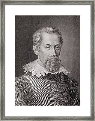 1620 Johannes Kepler Astronomer Portrait Framed Print by Paul D Stewart