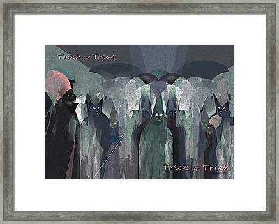 166 - Trick Or Treat  Halloween   Framed Print by Irmgard Schoendorf Welch