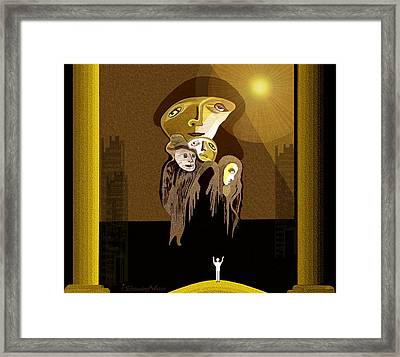 167 - Arrival Of The Gods ... Framed Print by Irmgard Schoendorf Welch