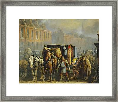 Farmer And Horse  Framed Print by Cecil Charles