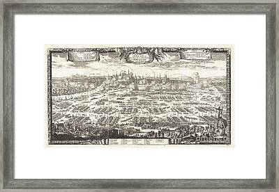 1697 Pufendorf View Of Krakow Cracow Poland Framed Print by Paul Fearn