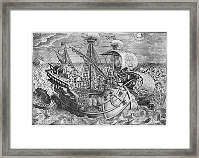 16th Century Sailors Framed Print by Cci Archives