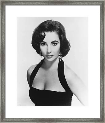 Elizabeth Taylor Framed Print by Silver Screen