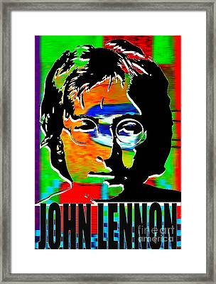 John Lennon Framed Print by Marvin Blaine