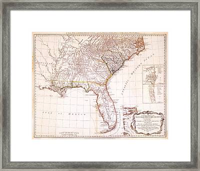 1776 - The Seat Of War In The Southern British Colonies Framed Print by Kayleigh Green