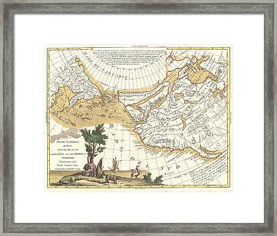 1776 Zatta Map Of California And The Western Parts Of North America Framed Print by Paul Fearn