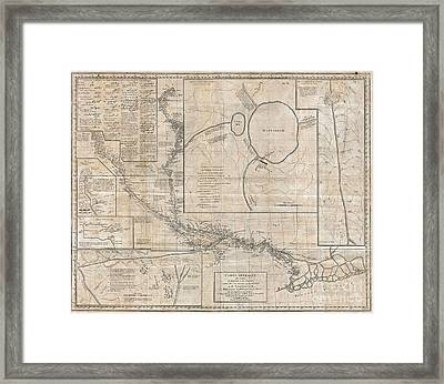 1784 Tiefenthaler Map Of The Ganges And Ghaghara Rivers India Framed Print by Paul Fearn