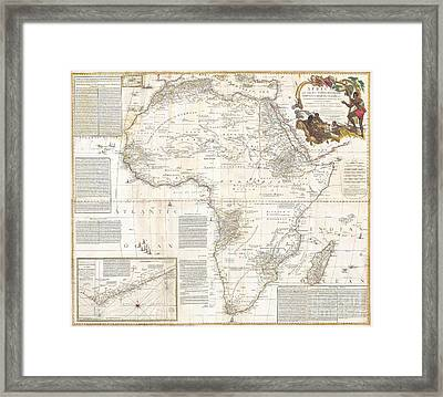 1787 Boulton  Sayer Wall Map Of Africa Framed Print by Paul Fearn
