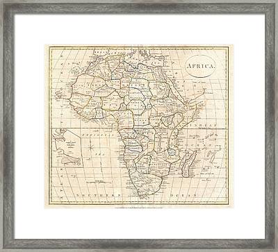 1799 Clement Cruttwell Map Of Africa  Framed Print by Paul Fearn