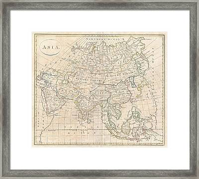 1799 Clement Cruttwell Map Of Asia Framed Print by Paul Fearn