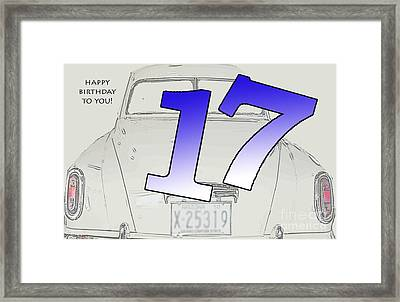 17th Birthday Framed Print by Randi Grace Nilsberg