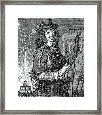 17th Century Pyrotechnist Framed Print by Collection Abecasis