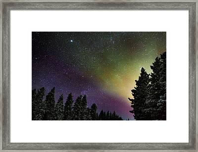 Aurora Borealis Or Northern Lights Framed Print by Panoramic Images
