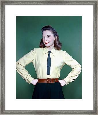 Barbara Stanwyck Framed Print by Silver Screen
