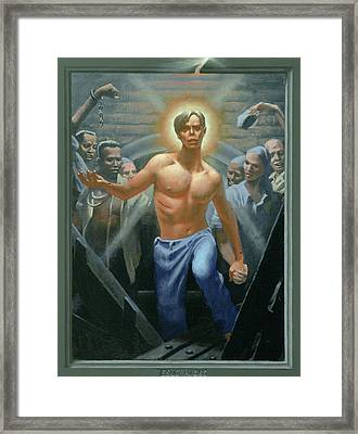 18. Jesus Rises / From The Passion Of Christ - A Gay Vision Framed Print by Douglas Blanchard