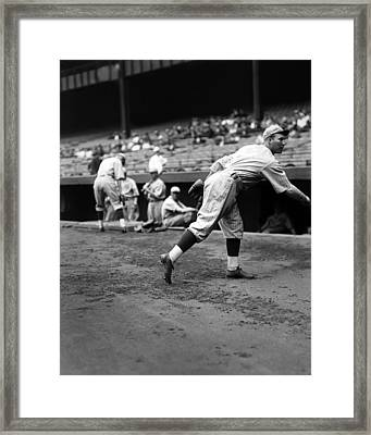 Red Ruffing Framed Print by Retro Images Archive