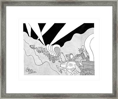 Untitled Framed Print by Gahan Wilson