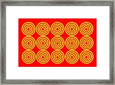 180 Circles Framed Print by Asbjorn Lonvig