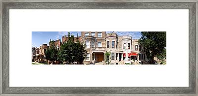 180 Degree View Of Buildings In A City Framed Print by Panoramic Images