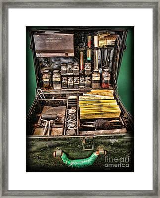 1800's Fingerprint Kit Framed Print by Lee Dos Santos