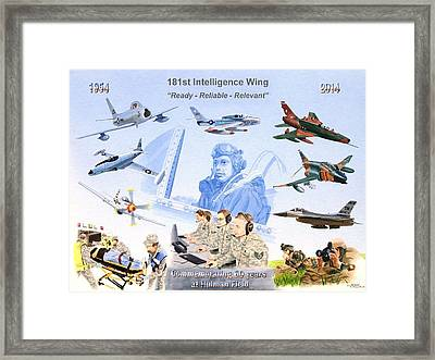 181st Intelligence Wing Framed Print by C Robert Follett