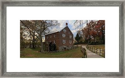 1823 North Carolina Grist Mill Framed Print by Adam Jewell