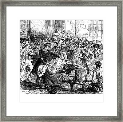 1832 Paris Cholera Epidemic Framed Print by Collection Abecasis