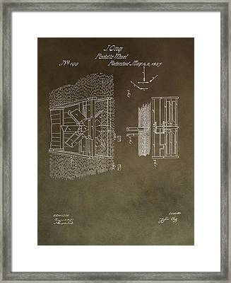 1837 Paddle Wheel Patent Framed Print by Dan Sproul