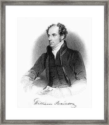 1840 William Swainson Naturalist Portrait Framed Print by Paul D Stewart