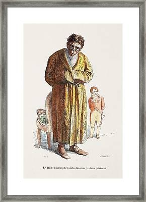 1842 Geoffrey Saint Hilaire Scientist Framed Print by Paul D Stewart