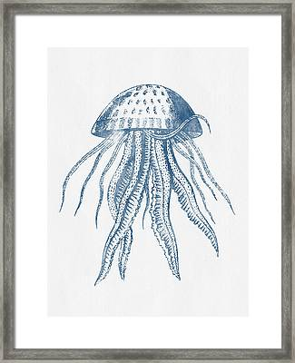 1844 Octopus Ink Drawing Framed Print by Aged Pixel