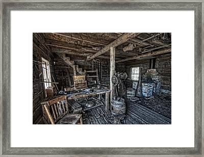 1860's Blacksmith Shop - Nevada City Ghost Town - Montana Framed Print by Daniel Hagerman