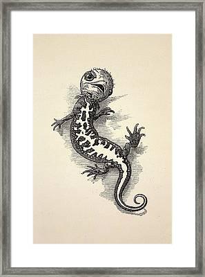 1863 Kingsley Waterbabies Human Newt Framed Print by Paul D Stewart