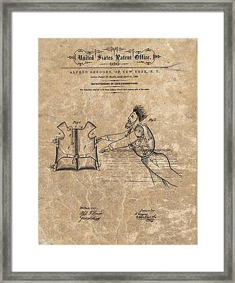 1869 Life Preserver Patent Framed Print by Dan Sproul