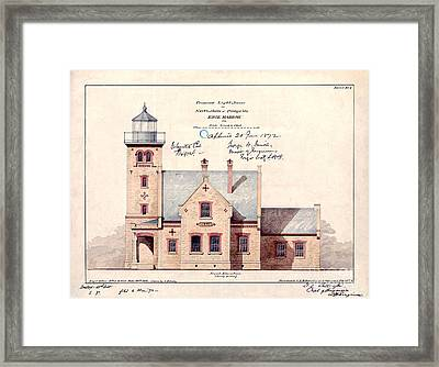 1872 Erie Harbor Lighthouse Framed Print by Jon Neidert