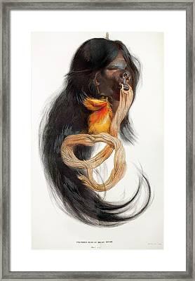 1874 Amazon Macas Indian Shrunken Head Framed Print by Paul D Stewart