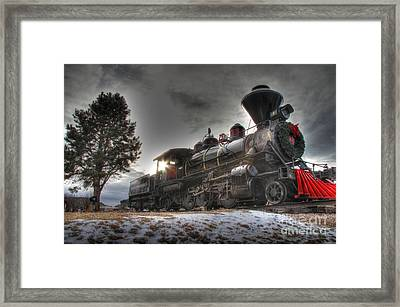 Framed Print featuring the photograph 1880 Train by Bill Gabbert