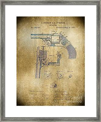 1887 Revolver Framed Print by Steven Parker