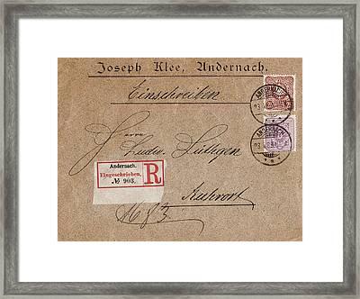 1889 - Old Letter Original Framed Print by Charlie Photographer