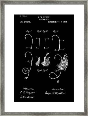 1892 Fishing Fly Patent Framed Print by Dan Sproul