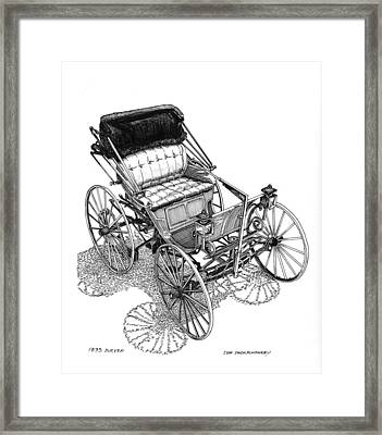 1893 Duryea Motorwagon Framed Print by Jack Pumphrey