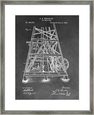 1893 Oil Rig Patent Framed Print by Dan Sproul