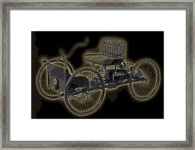 1896 Quadricycle Henry Fords First Car Framed Print by Marvin Blaine