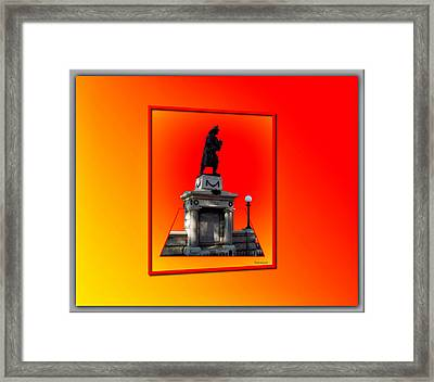 1898 Firemen Memorial Framed Print by Thomas Woolworth