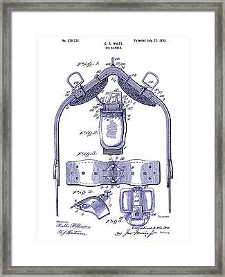1899 Gig Saddle Patent Drawing Blueprint Framed Print by Jon Neidert