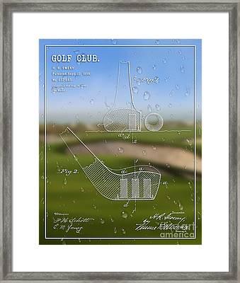 1899 Golf Club Patent Art H.r. Sweny 1 Framed Print by Nishanth Gopinathan