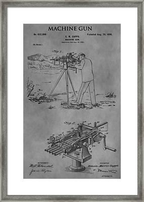 1899 Machine Gun Framed Print by Dan Sproul