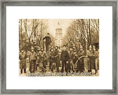 1899 Squad Nd Framed Print by Connie Dye