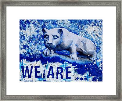 18x24 We Are Penn State Framed Print by Michelle Eshleman